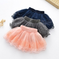 Spring Fall Summer Clothing Children Girl Cute Baby Kid Floral Tutu Cotton Skirts Lace Cotton Flower Princess High Quality 2-9Y