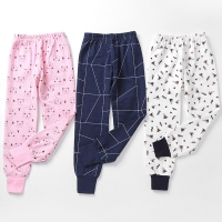 Cartoon Print Cotton Baby Trousers Boys Girls Indoor Leggings Pants For Sports Kids Harem Pants For Girls Boys Clothing 90-170cm