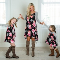 Mother and daughter Matching Clothing 2-8T Floral Dress Mom Girls Family Clothes Outfits 2020 Summer Family Matching Outfits