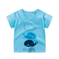 Baby Girls T-Shirts Summer Short Sleeve Baby Clothing Cotton Tee Tops Cartoon Animal Print Boy Clothes Kids T-Shirt 12M3T6T24M