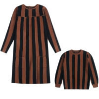 Kids Sweaters Children Striped Knitted Pullover Tops Girls Long Jumper Dress Boy Winter Sweaters Teenagers Knitwear