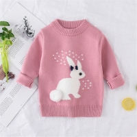 New Arrival girl Sweater Children Clothing rabbit Pattern Knitted Sweater Baby girls Pullover Sweater Knitwear 1-5T Kids