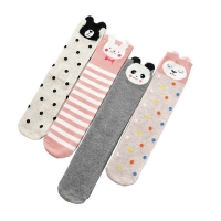 Baby girl cartoon leg warmers children heaps stockings half cylinder boy knee-high kids knee above cat print cotton leg warmers