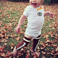 Cotton Brown Baby Football Design Leg Warmer,Cute Romper