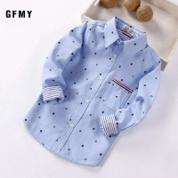 GFMY 2020 spring Full Sleeve Printed Anchor Auspicious Pattern boy Shirts 3T-12T Kid Casual Clothes