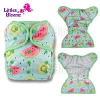 [Littles&Bloomz] Baby Diapers One Size Reusable Cloth Colour Nappy Waterproof Cover Wrap To Use With Flat or Fitted Nappy Diaper