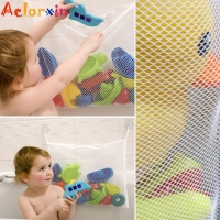 2019 Newborn Baby Bath Net Suction Storage Folding Hanging Mesh Net Bag Eco-Friendly Bathroom Shower Toy Organizer Bath Tub Toys
