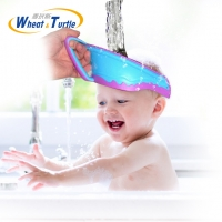 Hair Wash Shampoo Shield Waterproof Splashguard for Infant Children Baby Kids Bath Visor Hat Adjustable Baby Shower Protect Cap