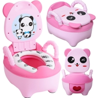 Portable Pot Panda Children's Travel Pot Cute Infant Girls Potty Seat Boys Urinal Car Potty Baby Toilet Seat Training Baby Pot