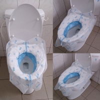 Disposable toilet seat travel hotel airport toilet seat cushion paper toilet seat toilet travel supplies