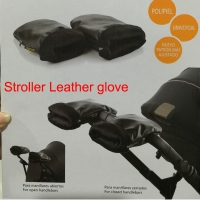 Baby stroller winter genuine leather pram hand muff carriage gloves clutch cart glove wheelchair accessories guantes carro bebe
