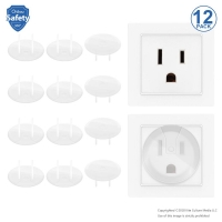 12 Pcs American Standard Baby Safety Electrical Outlet Protector Socket Cover Plugs Children Security Products