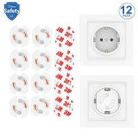 Power Socket Electric Shock Outlet Baby Safety Anti Electric Shock Plugs Protector Rotate Cover Various Countries 12 Pcs Each