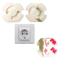 10pcs/lot Baby Safety Socket Cover Power Protection Against Electric Shock Insulating Protective Plug 2 Hole Round