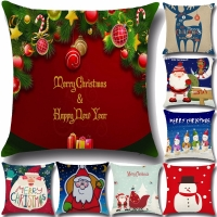 45*45cm Santa Snowman baby pillow case Christmas Series Pillowcase Cushion Christmas Gift Square Pillow cases without Core PP35