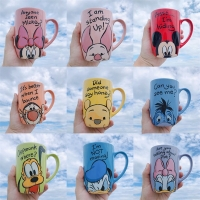 1 Piece 500mL Disney Mickey Minnie Cartoon Ceramic Water Cup Coffee Milk Mug Home Office Collection Cups Women Girl Gifts