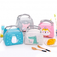 Cartoon Portable Student Insulation Pack Fox Pattern Baby Food Thermos Bag Milk Bottle Pouch Children's Lunch Box Tote Wholesale