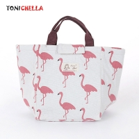 Baby Milk Bottle Insulation Flamingo Bags Waterproof Portable Lunch Bag Infant Milk Breast Bottles Warmer Thermal Bag CL5297