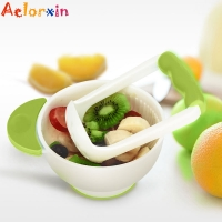 Infant Baby Fruit Food Containers Grinding Bowl Container Bowl Set Kids Manual Grinding Dishes Handmade Grinding Food Learn