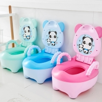 Baby Boy Girl Toilet Pot Children Potty Toilet Seat Baby Potty Training Portable Toilets Bedpan Comfortable Backrest Cartoon Pot