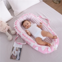 85*50cm Portable Baby Nest Bed Nordic Cotton Cradle Unicorn Print Baby Bassinet Bumper Folding Sleeper for Newborn Travel Bed