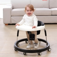 Walker With Wheel Baby Walk Learning Anti Rollover Foldable Baby Walker Multifunctional Adjustable Infant Seat Car 0-36 Months