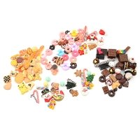 30pcs/lot Mini Play Food Cake Biscuit Donuts Dolls For Dolls Accessories Wholesale Miniature Pretend Toy