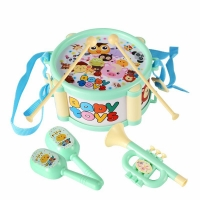 Children's Drum 3 Kinds Of Musical Instrument Set Jazz Drum Set Combination Baby Enlightenment Tapping Toy Growth Playmate Gift
