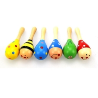 Cartoon Mini Infant Baby Rattle Toy Wooden Rattles Musical Baby Children Shaker Toy Kids Development Toys For Baby Noise Maker