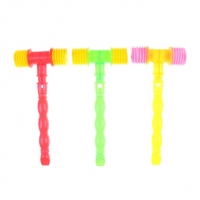 25CM plastic Whistle Training Toddler Hammer Noise Maker Kids Handle Durable Built in Whistle Toddler Toys