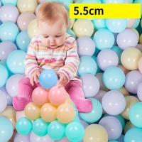 50pcs/lot Eco-Friendly Colorful Ball Soft Plastic Ocean Ball Funny Baby Kid Swim Pit Toy Water Pool Ocean Wave Ball Dia 5.5cm