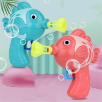 Cute Fish Soap Water Bubble Gun Bubble Blower Machine Toy For Kids Children Manual Gun Blower