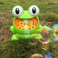 New Cute Automatic Bubble Maker Kids Frog Bubble Blower Machine 500 Bubbles/Minute Children Outdoor Toys For Birthday Party Gift
