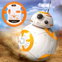 Fast Shipping BB-8 Ball RC Robot BB8 Action Figure BB 8 Droid Robot 2.4G Remote Control Intelligent Robot BB8 Model Kid Toy Gift