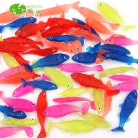 Translucent insolubility TPR material sardines ocean animal model toy props  HY-Y001