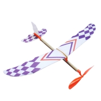 Rubber Band Powered Glider Flying Plane Airplane Model DIY Assembly Toy Kid Gift For Boys Girls