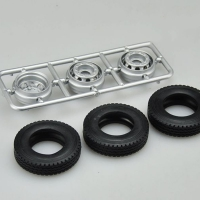 1/24 Scale Front tire/spareTire/wheel hub modified truck Engineering vehicle special accessories scene truck model Components