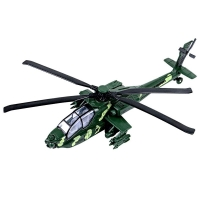 11.2 Inch Pull Back Military Helicopter Toy with Lights and Sounds Army Plane Airplane for Kids Children Boys Girls (Green)