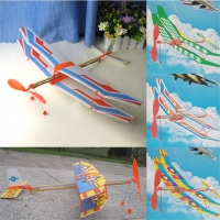HOT SALE 1Pc 50*43cm Elastic Rubber Band Powered DIY Foam Plane Model Kit Aircraft Educational Toy