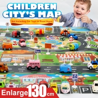 Enlarge 130*100CM Car Toy Waterproof Playmat Simulation Toys City Road Map Parking Lot Playing Mat Portable Floor Games NO CARS