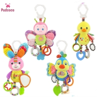 Pudcoco Brand Cute Crib Cot Pram Hanging Rattles For Baby Stroller&Car Seat Ringing Stuffed Plush Animals Baby Toy Education