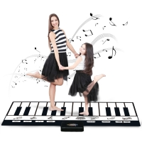 180x72cm 24 Keys Multifunction Musical Piano Mat Keyboard Baby Play Mat Rug Musical Instrumnets Educational Toys for Kids Gifts