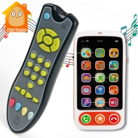 Baby Music Mobile Phone Toys Colorful Electric TV Remote Controller Learning Numbers Early Educational Machine Toys For Kids