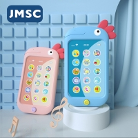 JMSC Baby Phone Toy Mobile Telephone Early Educational Chinese/English Learning Machine Teether Musical Multi-Function Kids