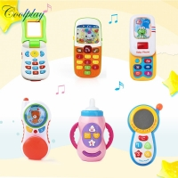 Multi- Styles Kids Children Smart Phone Toy with Sound Electronic Mobile Phone Cellphone Early Education Flash Musical Toys Gift