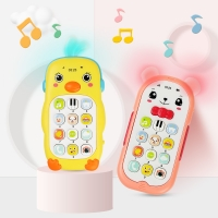 5 Styles Cute Cartoon Baby Musical Phone Toys Sound Light Teether Cellphone Electronic Educational Toys Infant Birthday Gifts