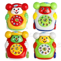 Baby Toys Music Cartoon Phone Mobile Educational Developmental Kids Gifts Toy L4MC