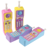1PCs Kids Telephone Machine Cell Phone Toy Learning Machine Point Reading Machine Plastic Electric Study Electronic Vocal Toys