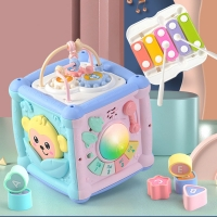 Baby Education Musical Toy Multifunction Drum Activity Cube Shape Blocks Sorter For Kids Early Learning Musical toys for gift