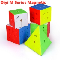 Qiyi MS Series Magnetic 2x2x2 3x3x3 magic cube 4x4x4 5x5x5 speed cube 2x2 3x3 Pyramid cube 4x4 cubo magico 5x5 puzzle cube